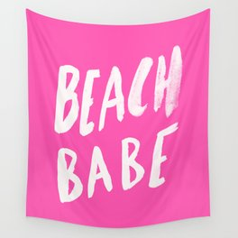 Beach Babe x Flamingo Pink Wall Tapestry