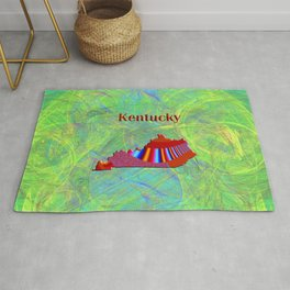 Kentucky Map Rug