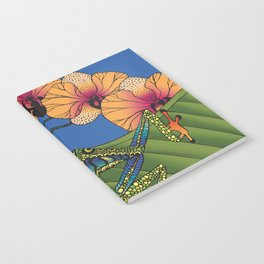 Tree Frog with Orchids Notebook