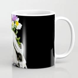 Animal skull with a wreath of wild flower Coffee Mug