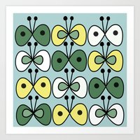 simply butterfly pattern Art Print