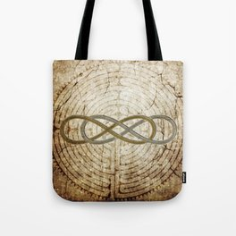 Double Infinity Silver Gold antique Tote Bag