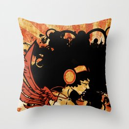 Rebel Lady Throw Pillow