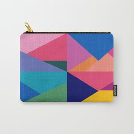 Geometric Color Block Carry-All Pouch