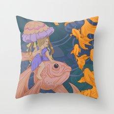 Deep Sea Stroll Throw Pillow