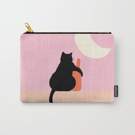 Abstraction_CAT_DRUNK_NIGHT_Minimalism_001 Carry-All Pouch