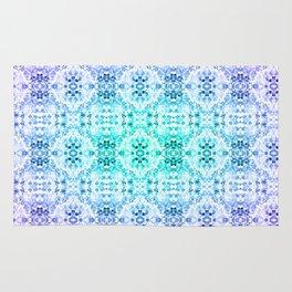 Floral Print - Teal & Purple Rug