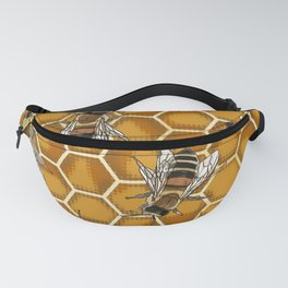 Honey Bee Beehive * Bumble Bees and Worker Bees Fanny Pack