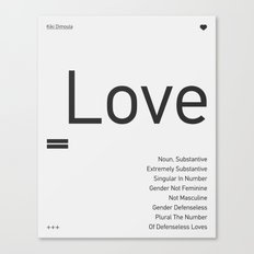 Valentine's gift. Love Canvas Print