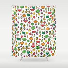 fruits & vegetables Shower Curtain