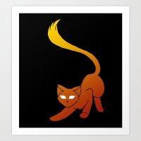 Flame Feline Art Print