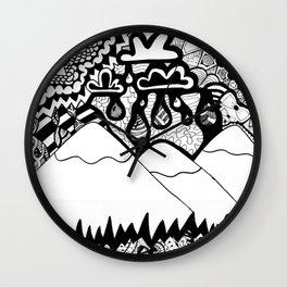 Doodle Mountain Wall Clock