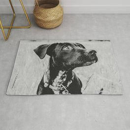 Wheatfield Dog Portrait // Sharing Memories with A Best Friend Such Amazing Eyes Rug