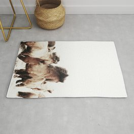 WILD AND FREE 2 - HORSES OF ICELAND Rug