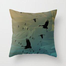 Sandhll Migration Throw Pillow