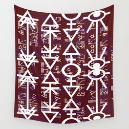 Love Rune-Burgandy Wall Tapestry