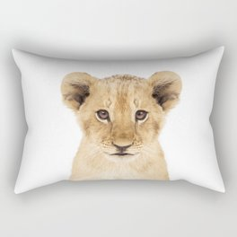 Lion Cub Rectangular Pillow