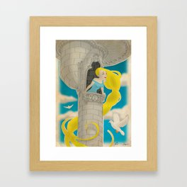 Let down your hair Framed Art Print