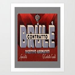 retro plakat contratto brule digestivo aromatico Art Print