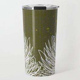 Olive Doodle Floral by Friztin Travel Mug