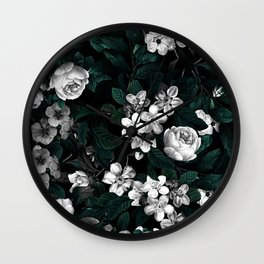 Botanical Night Wall Clock