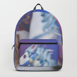 Carousel in the amusement park Backpack