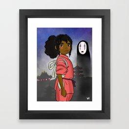 AFro Chihiro Framed Art Print