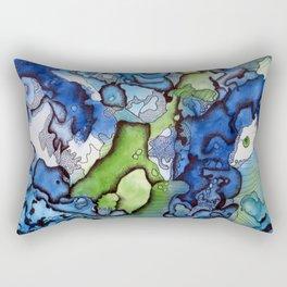 abstract blue and green Rectangular Pillow