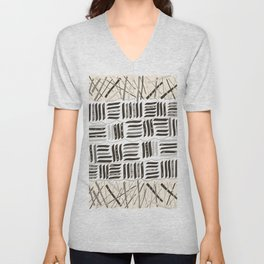 Abstract Stripe Active Wear Pattern Unisex V-Neck