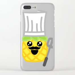 Chef Pineapple Clear iPhone Case