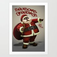 Chocolate Santa Art Print