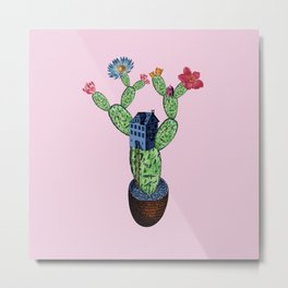 My prickly cactus safe house Metal Print