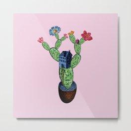 My prickly cactus safe house Metal Print