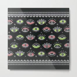 Eye Spy Neon Metal Print