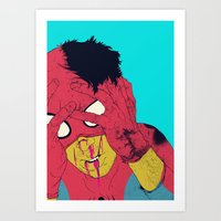 boneface Art Prints featuring Thudd! by boneface