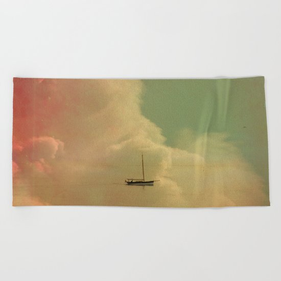 Once Upon a Time a Little Boat Beach Towel