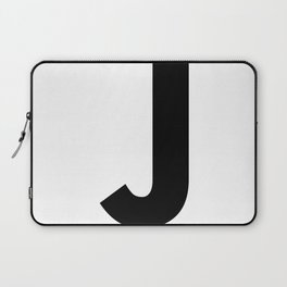Letter J (Black & White) Laptop Sleeve