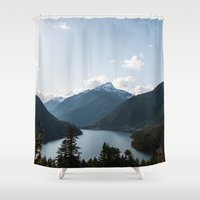 diablo Shower Curtains featuring Diablo Lake. by Eric-Bird