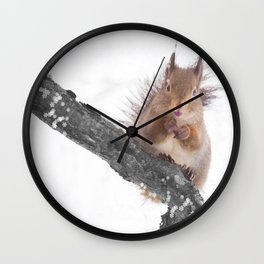 Little squirrel - smack! Wall Clock