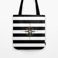 compass Tote Bags featuring Compass by Andréa Bottalla