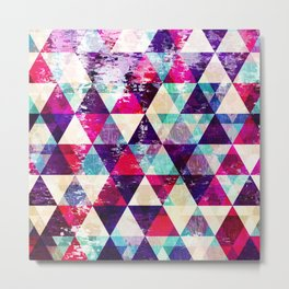 "Retro Geometrical Abstract Design ""Josephine"" inspired Metal Print"