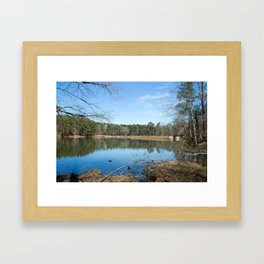 Durant nature park lake Framed Art Print