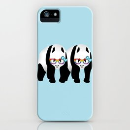 Gay Pride Pandas iPhone Case