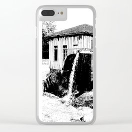 water mill house Clear iPhone Case