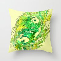 pisces Throw Pillows featuring pisces by Steven Toang