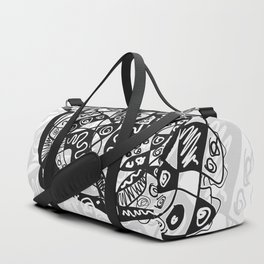 Black and White Abstraction #4 Duffle Bag