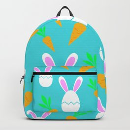 Happy Bunnies & Carrots   Easter Bunny   Easter Egg Bunny   pulps of wood Backpack