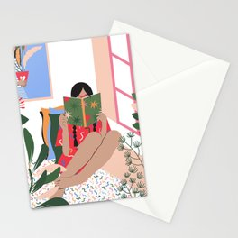 Plant Girl #2 Stationery Cards