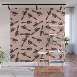 Chainsaw pattern / horror pattern / horror / macabre Wall Mural