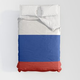 Russian Flag In Red White And Blue Comforters